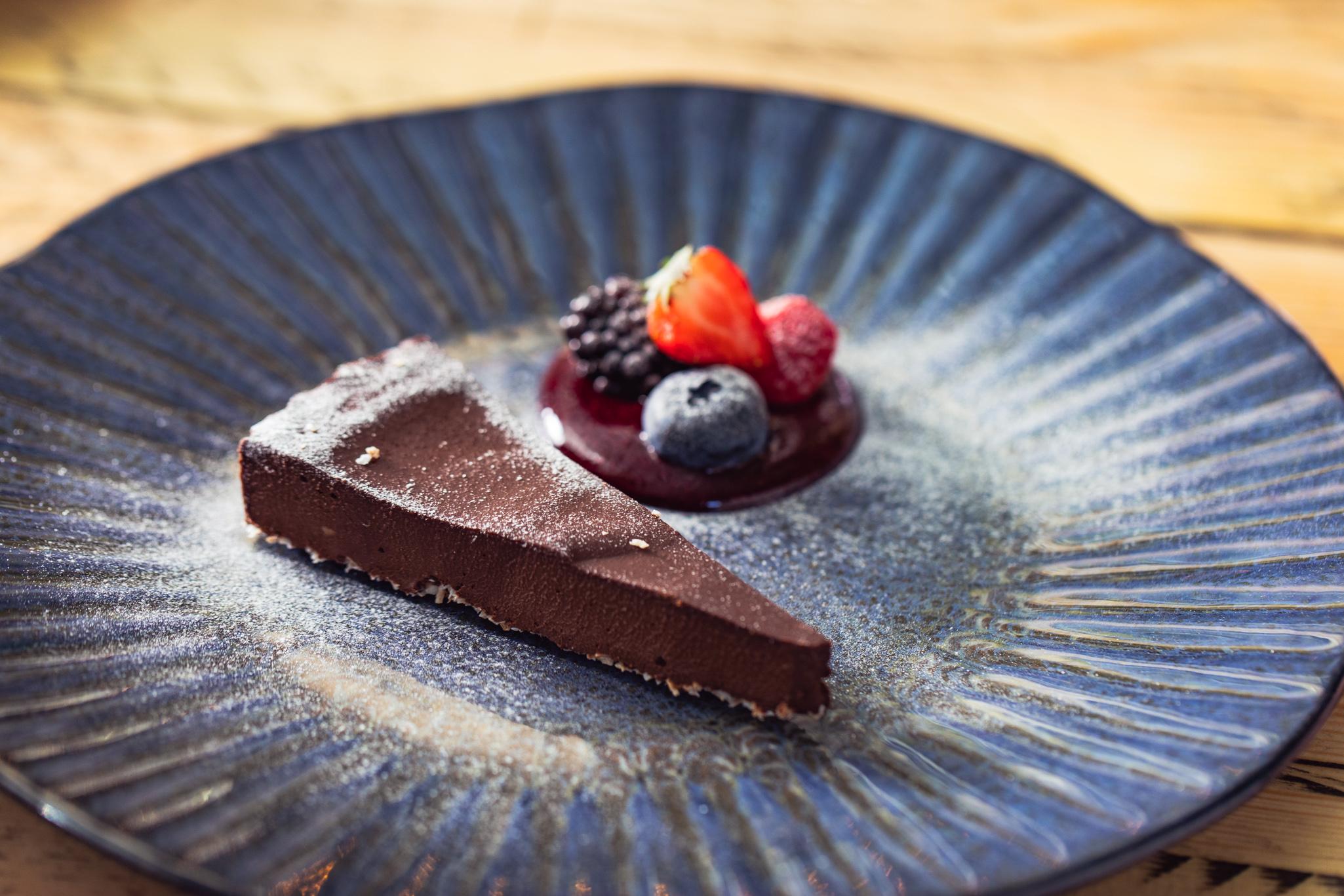 Vegan chocolate wedding dessert