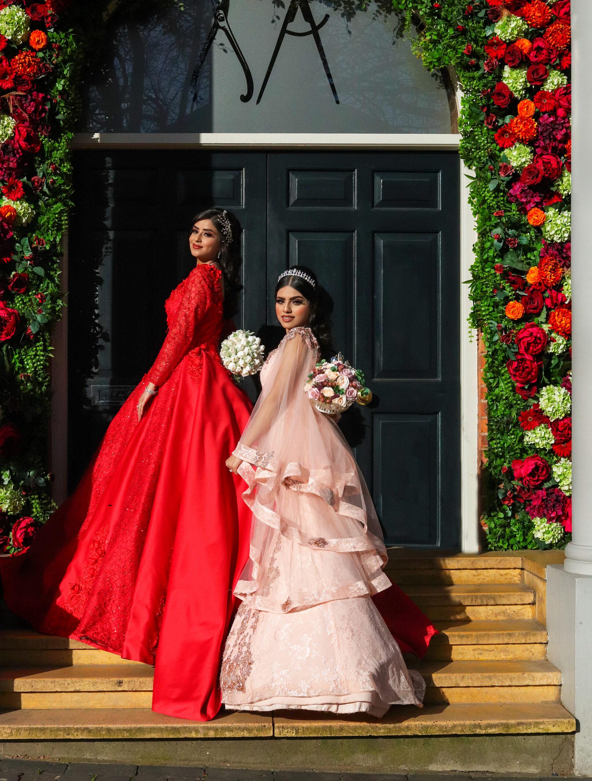 Red and pink wedding shoot at Saint Pauls