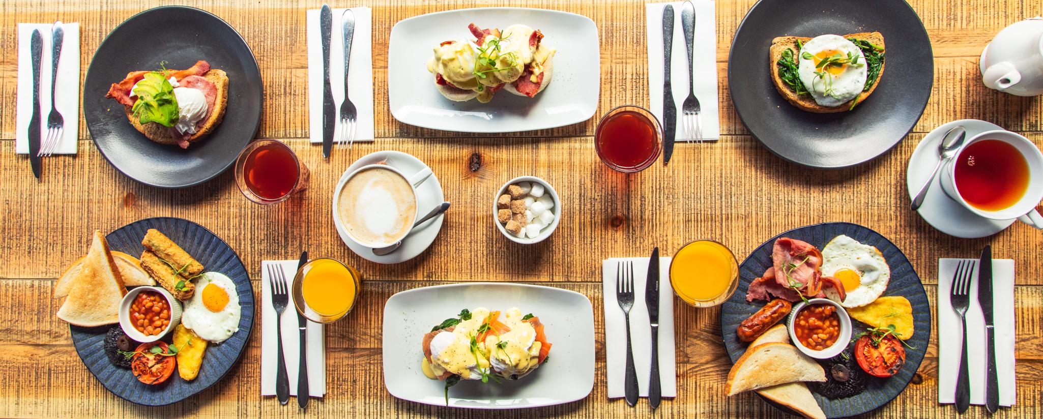 Breakfast in the morning